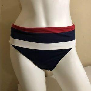 Tommy Bahama Fold Over Waist Hipster Swim Bottom